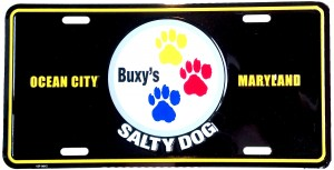 Buxys Salty Dog License Plate